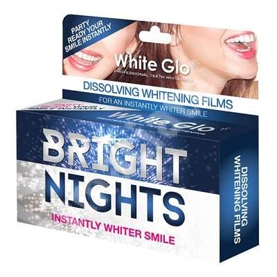 Benzi de albire a dinților White Glo Bright Nights, 6 bucați, Barros Laboratories
