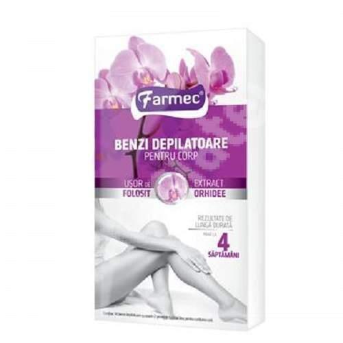 Benzi depilatoare cu extract de orhidee pentru corp, Farmec
