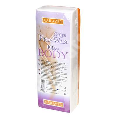 Benzi depilatoare pentru corp Free Wax, 100 bucati, Karaver