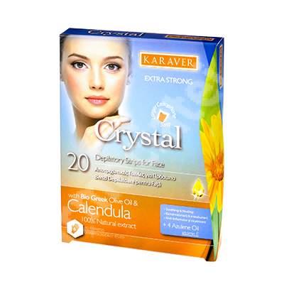 Benzi depilatoare pentru fata Crystal, 20 bucati, Karaver