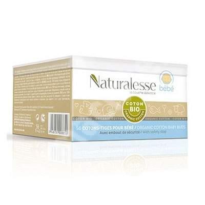 Betisoare igienice din bumbac Organic pentru bebe, 56 bucati, Naturalesse