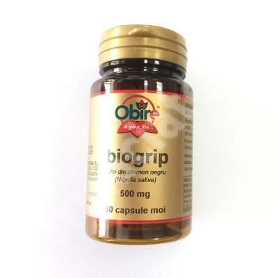 Biogrip Ulei din seminte de chimen negru 500 mg, 60 capsule moi, Obire