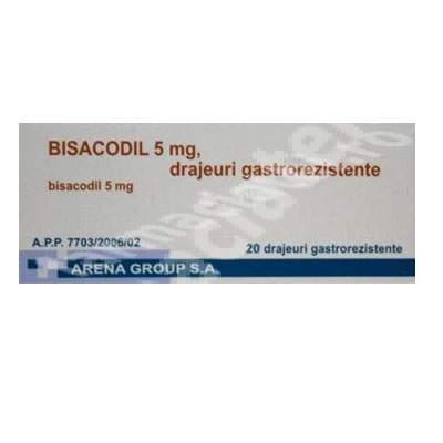 Bisacodil 5 mg, 20 drajeuri, Arena Group