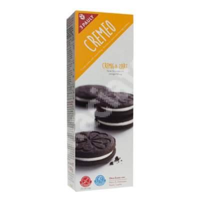 Biscuiti cu cacao umpluti cu crema Cremeo 3Pauly, 120 g, Haus Rabenhorst