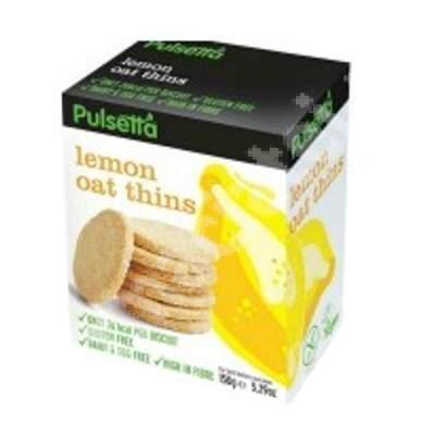 Biscuiti vegani fara gluten din ovaz cu lamaie Pulsetta, 150 g, Activ Pharma Star
