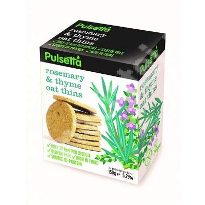 Biscuiti vegani fara gluten din ovaz cu rozmarin si cimbru Pulsetta, 150g, Activ Pharma Star