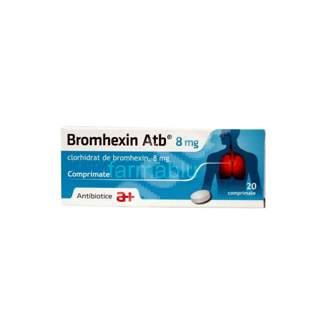 Bromhexin, 8 mg, 20 comprimate, Antibiotice SA