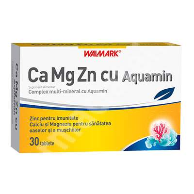 Ca Mg Zn cu Aquamin, 30 tablete, Walmark
