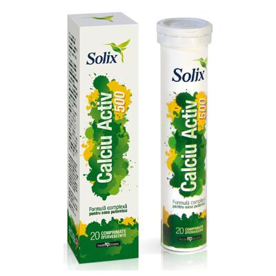 Calciu Activ 500 Solix, 20 comprimate efervescente, Health Advisors