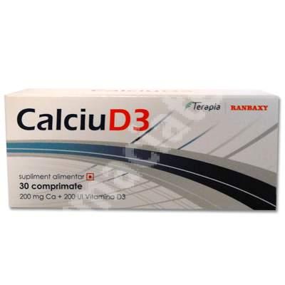 Calciu D3, 30 comprimate, Terapia