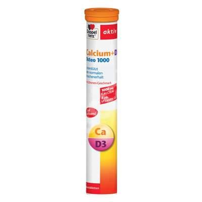 Calciu Vitamina D3 Osteo 1000, 15 comprimate, Doppelherz