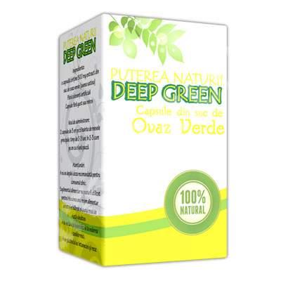 Capsule din suc de ovaz verde, 180 capsule, Deep Green
