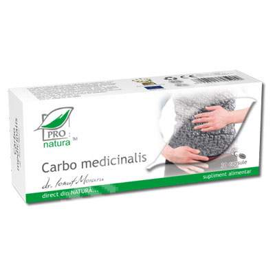 Carbo Medicinalis, 30 capsule, Pro Natura