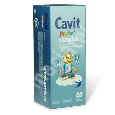 Cavit Junior Complex, 20 tablete, Biofarm