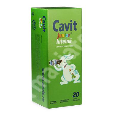 Cavit Junior Luteina, 20 tablete, Biofarm