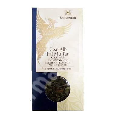 Ceai alb bio Pai Mu Tan, 40 g, Sonnentor