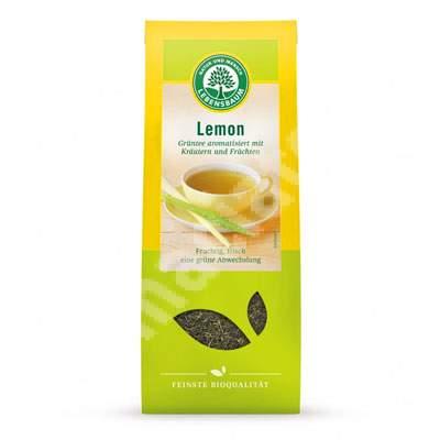 Ceai bio din ceai verde si iarba de lamaie, 75g, Lebensbaum