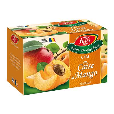 Ceai cu caise și mango, 20 plicuri, Fares