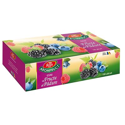 Ceai cu fructe de pădure Aromfruct, 100 plicuri, Fares