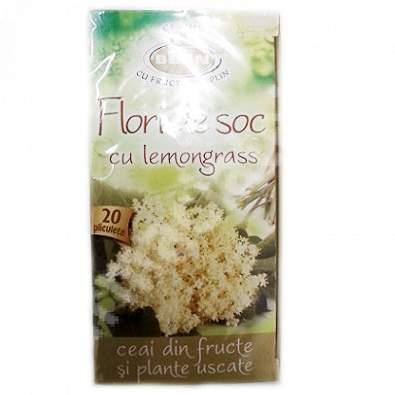 Ceai de flori de soc cu lemongrass, 20 plicuri, Belin