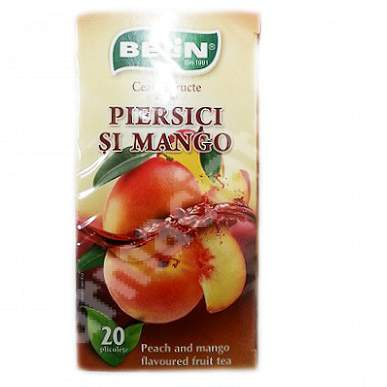 Ceai de fructe aromat Piersici si Mango, 20 plicuri, Belin