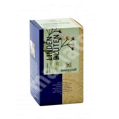 Ceai Flori de Tei Bio, 20 plicuri, Sonnetor