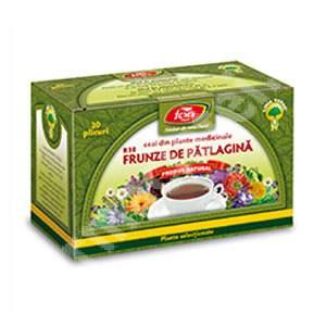 Ceai frunze de patlagina, 20 plicuri, Fares