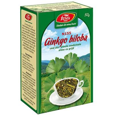 Ceai Ginkgo biloba frunze N155, 50 g Fares