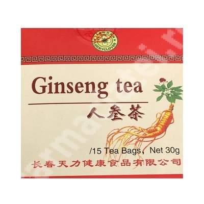 Ceai ginseng Tianran, 15 plicuri, Sanye