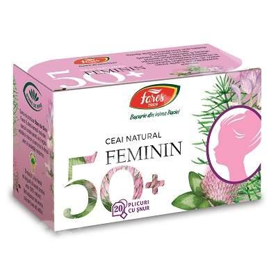 Ceai natural feminin 50+, 20 plicuri, Fares
