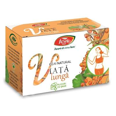 Ceai natural Viata Lunga, 20 plicuri, Fares