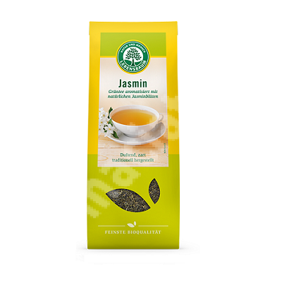 Ceai verde cu flori de iasomie, 75 g, Bio Lebensbaum