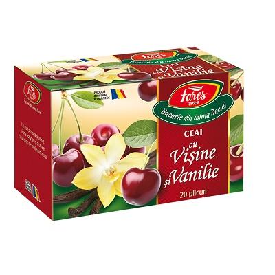 Ceai vișine și vanilie, 20 plicuri, Fares