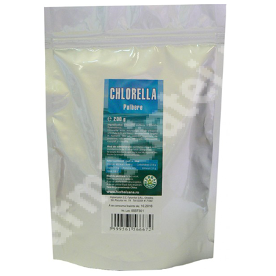 Chlorella pulbere, 200 g, Herbavit