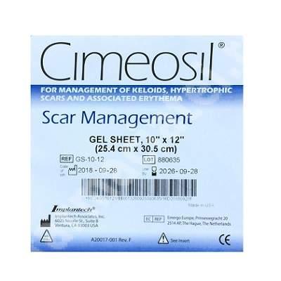 Cimeosil Scar ManagementGel Sheet, 25.4 cm x 30.5 cm, Implantech