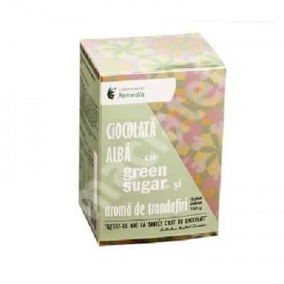 Ciocolată caldă cu Green Sugar și aromă de trandafiri, 10 plicuri, Remedia