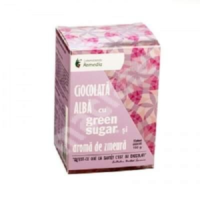 Ciocolată caldă cu Green Sugar și aromă de zmeură, 10 plicuri, Remedia