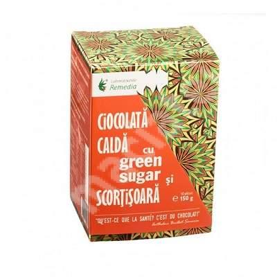 Ciocolată caldă cu Green Sugar și Scorțișoară, 10 plicuri, Remedia