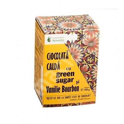 Ciocolată caldă cu Green Sugar și vanilie bourbon, 10 plicuri, Remedia