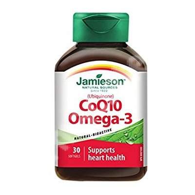 Coenzima Q10 si Omega 3, 30 capsule, Jamieson