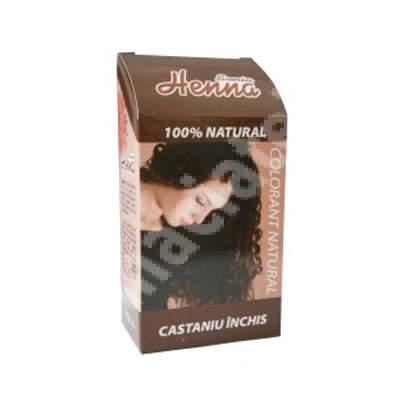 Colorant natural Sonia Henna castaniu închis, 100 g, Kian Cosmetics