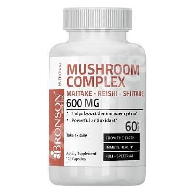 Complex ciuperci Maitake-Reishi-Shiitake, 60 capsule, Bronson Laboratories