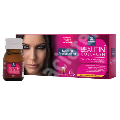 Complex Collagen & Magneziu mango si pepene galben Beautin Collagen My Elements, 5 flacoane, Iso Plus