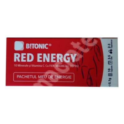 Complex exclusiv 9 minerale + Vitamina C Red Energy Bitonic, 10 capsule, Lifecare