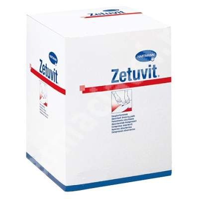 Comprese absorbante Zetuvit, 10x10 cm (413701), 25 bucăți, Hartmann