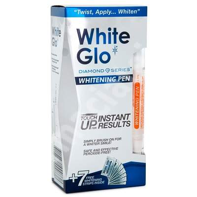 Creion albire dentara White Glo, 1 bucata, Barros Laboratories
