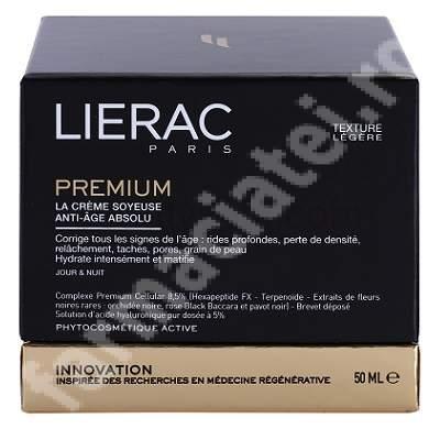 Crema anti-aging pentru zi si noapte cu textura lejera Absolut, 50 ml, Lierac Paris