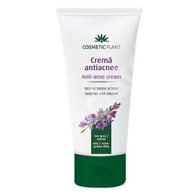 Crema antiacnee cu salvie si sulf, 100 ml, Cosmetic Plant