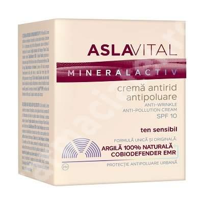 Crema antirid antipoluare SPF 10 AslaVital, 50 ml, Farmec