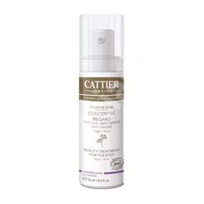 Crema antirid Bio pentru ochi cu ulei de argan Eclat de Rose, 15 ml, Cattier